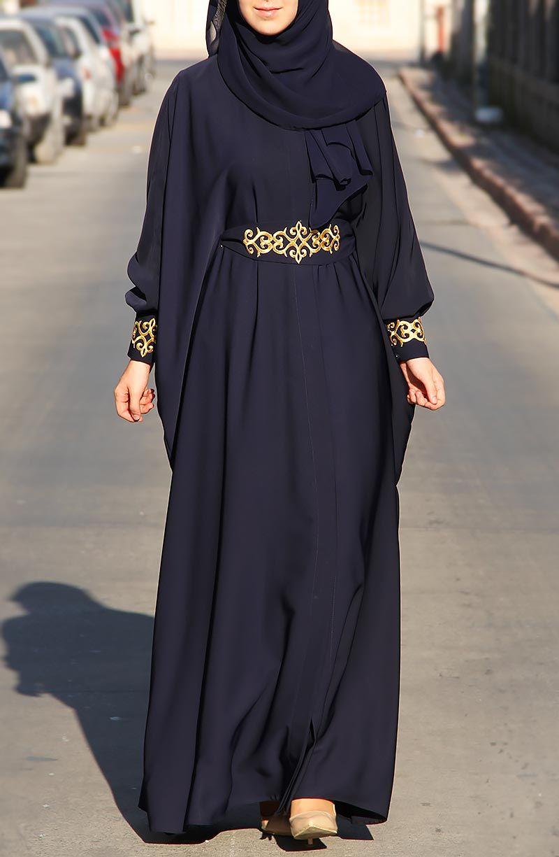 Şahmeran Abaya Ferace - Lacivert | ☙Abaya/Ferace Style ...