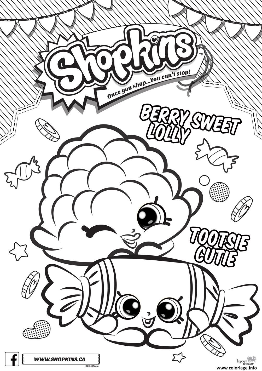 Coloriage shopkins berry sweet ly tootsie cutie   imprimer et coloriage en ligne pour enfants Dessine les coloriages Shopkins Berry Sweet Lolly Tootsie