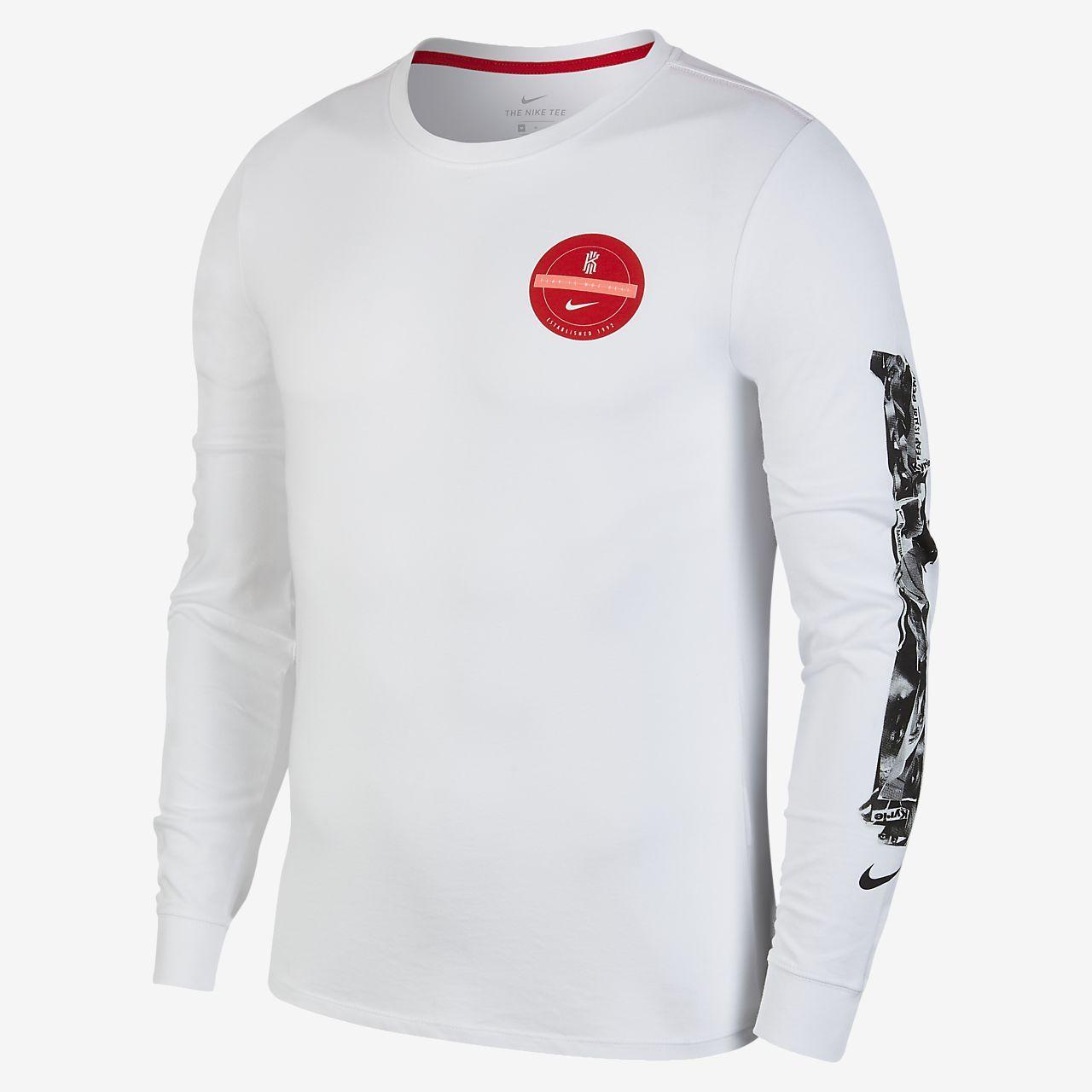 Nike drifit kyrie mens long sleeve basketball tshirt