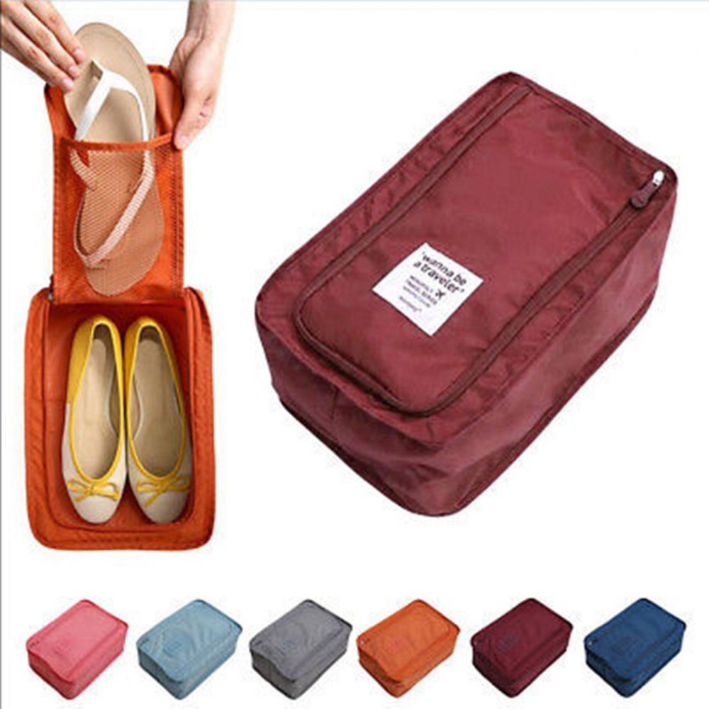 9aed20419894 Portable Travel Shoes Storage Outdoor Tote Pouch Zip Waterproof Bag ...