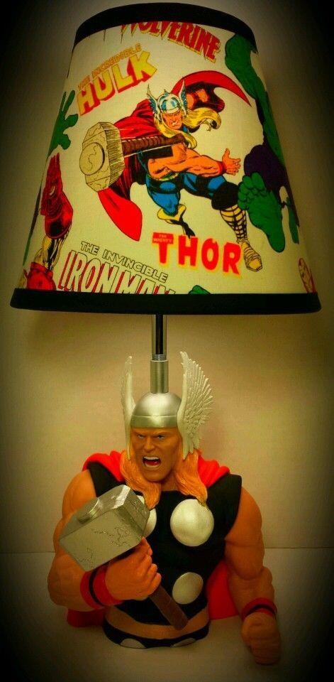 New Marvel Avengers Thor Lamp And Lampshade On Ebay 99