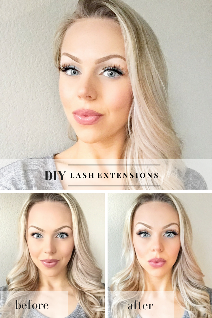 diy eyelash extensions with false lashes! i literally get asked