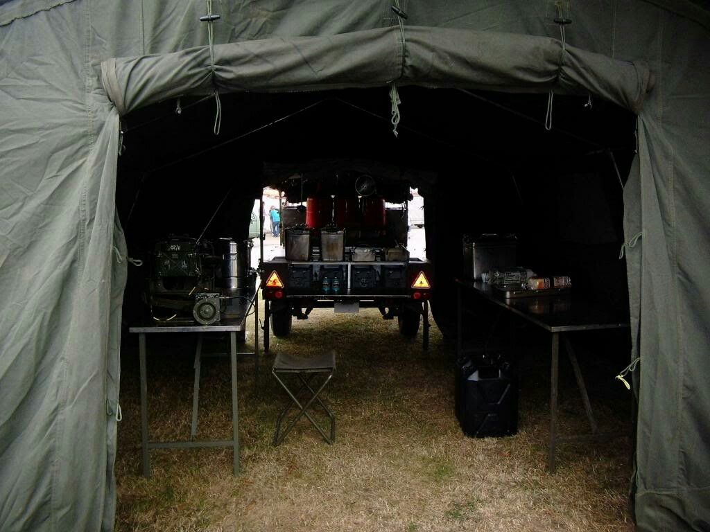 British Army Field Kitchen Trailer with 12x12 Tent 363 field sqn BAOR history group & British Army Field Kitchen Trailer with 12x12 Tent 363 field sqn ...