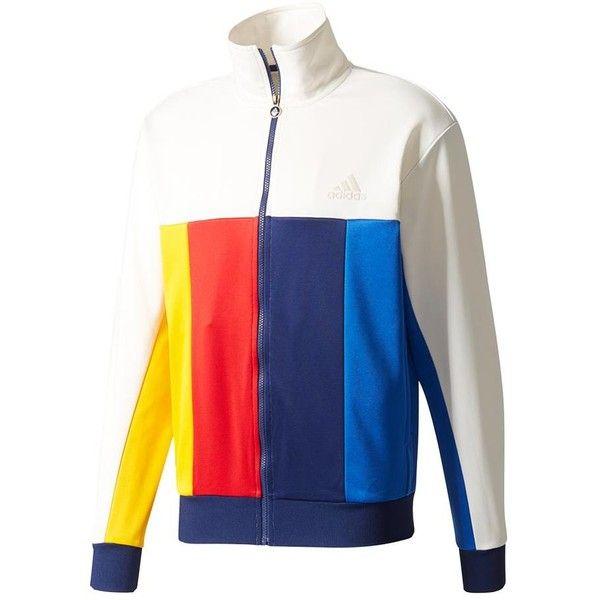 Men S New York Pharrell Williams Tennis Jacket Chalk White 6 440 Rub Liked On Polyvor Adidas Pharrell Williams Men S Coats And Jackets Mens Tennis Clothing