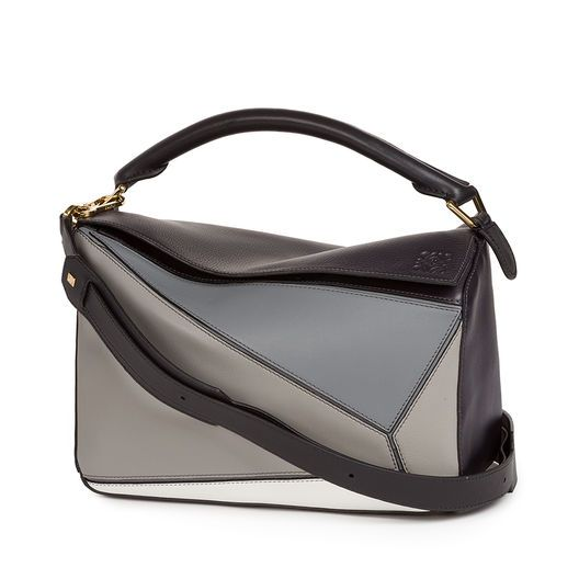068cfe3d431 LOEWE Puzzle Bag Grey Multitone all So I really like the various color- blocked neutrals and it s versatility. Price tag....is very high for a purse