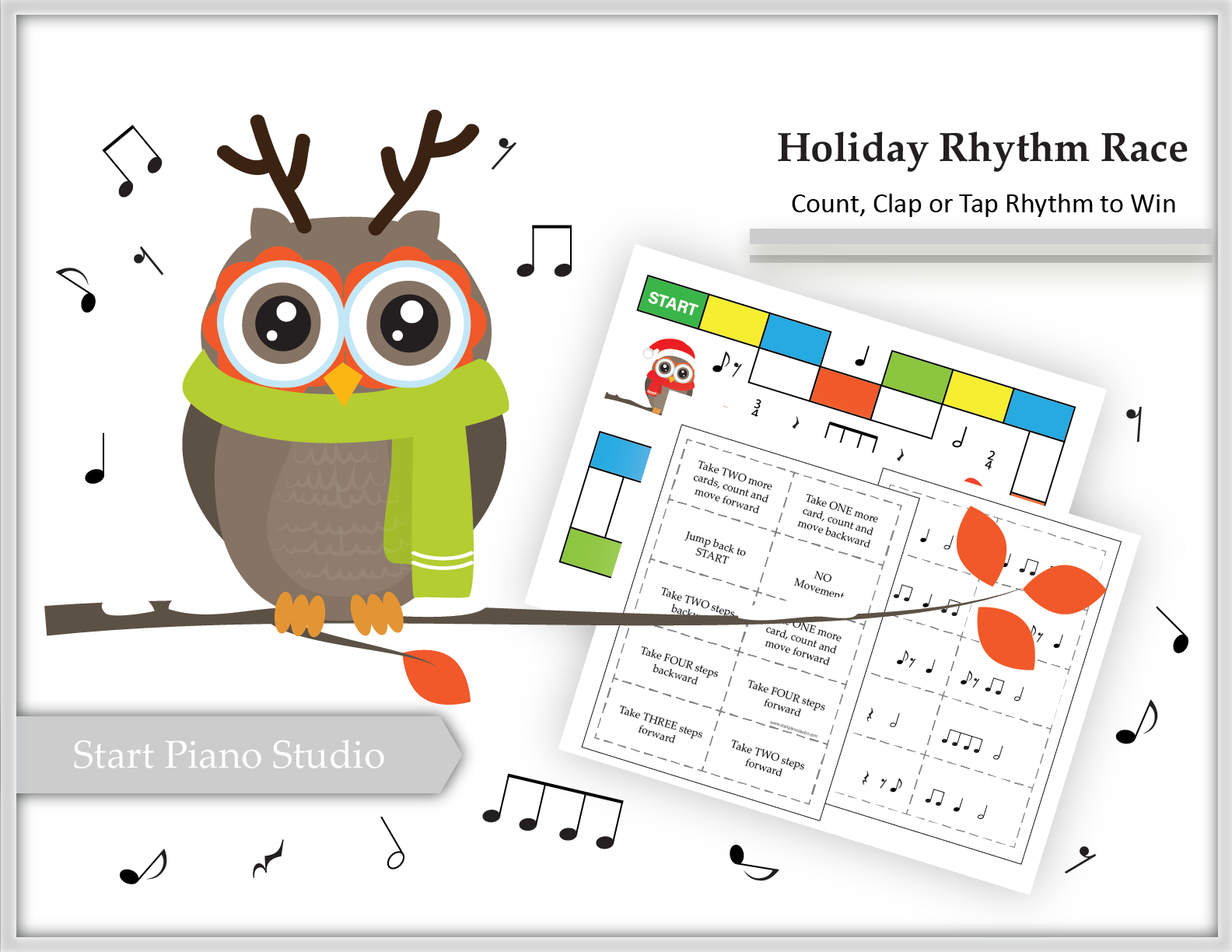 Holiday Rhythm Race Game And Worksheets