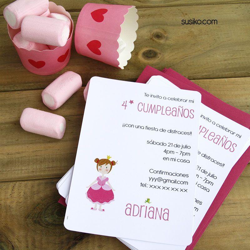 Invitaciones de cumpleaos para una princesa susikocom