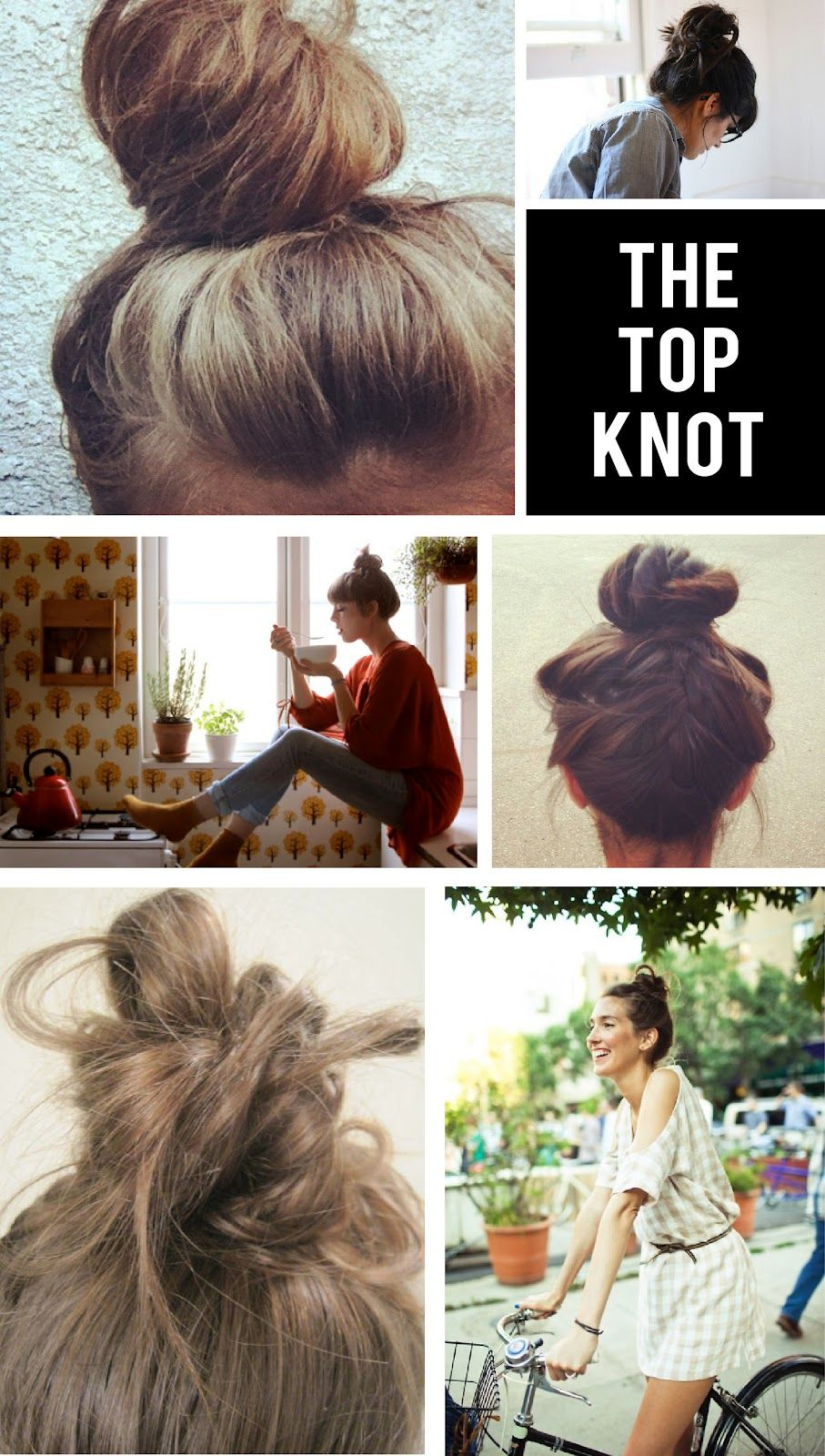 Top knot for lazy hair days hair pinterest lazy hair