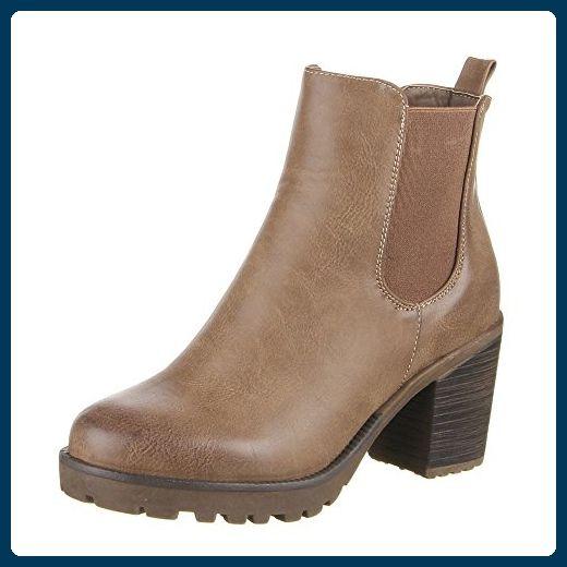 Damen Schuhe, MQ1818 2, STIEFELETTEN, USED OPTIK STRETCH