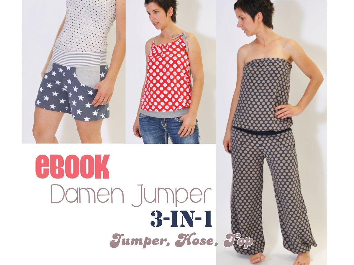 eBOOK # 67 ✪ Damen Jumper 3-in-1 XS-3XL - Schnittmuster und ...