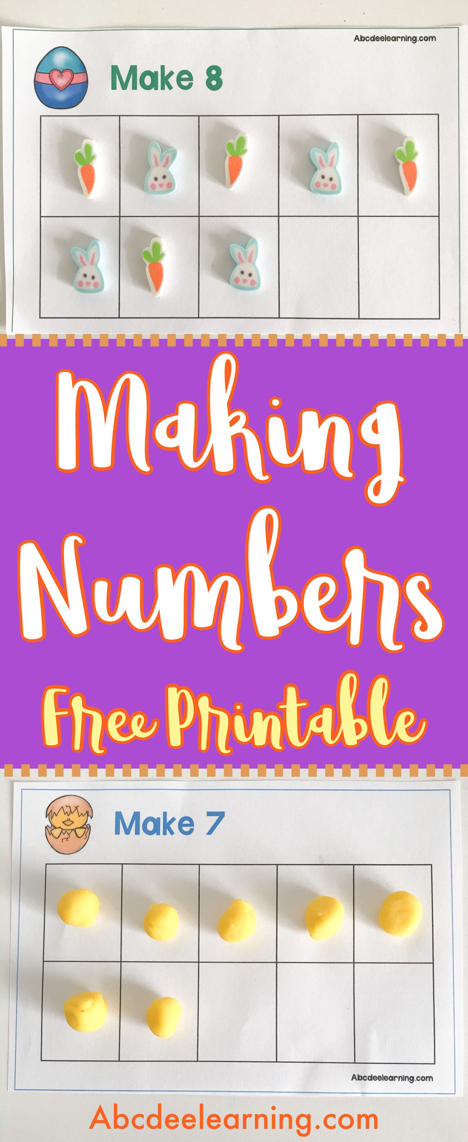 Free Easter 10 Frame Making Number Cards In