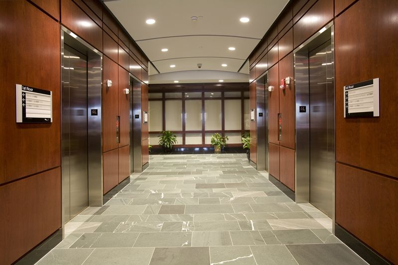 very corporate elevator lobby look   Commercial interiors ...