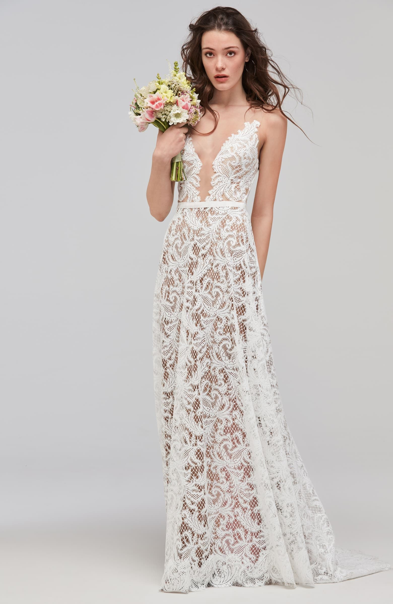 Willowby Asa Sleeveless V Neck Lace Tulle Wedding Dress En 2020 Mariage