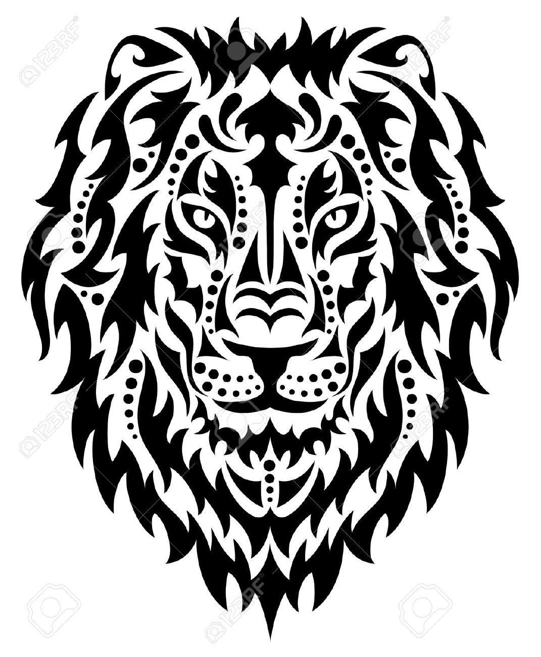 Top Kopf Eines Löwen. Lizenzfrei Nutzbare Vektorgrafiken, Clip Arts  GD22