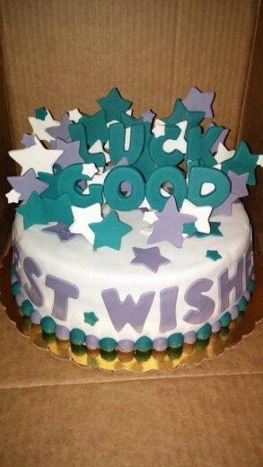 Good Luck Cake Cake Icing Cake Farewell Cake