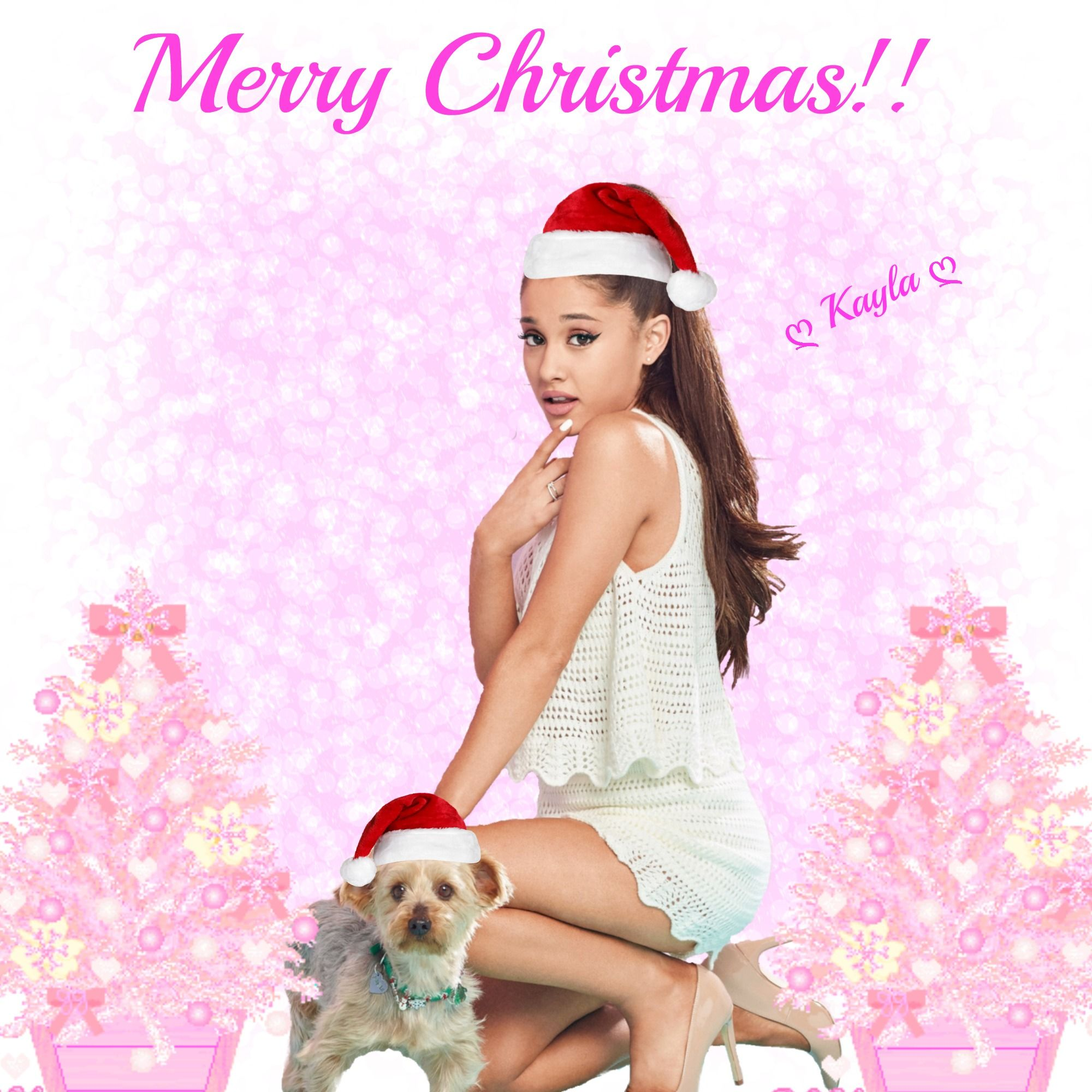 Ariana Grande Christmas Wallpaper: Merry Christmas Loves! ♡ Pinterest : ღ Kayla ღ