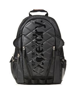 Quilted Tarp Backpack Black