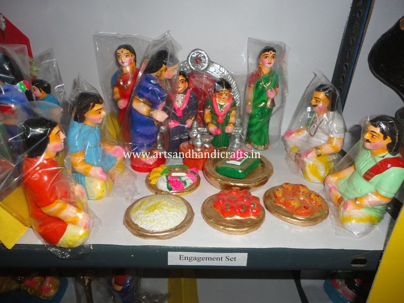 Engagement Set Arts And Cratfs Buy Golu Dolls In