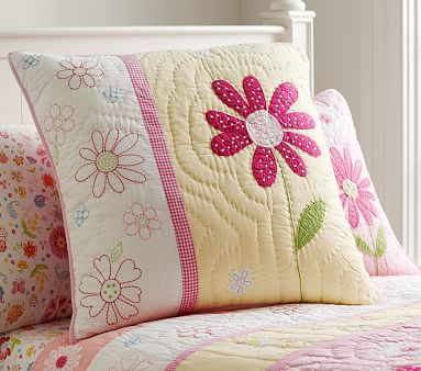 Daisy Garden Lavender Euro Quilted Sham At Pottery Barn
