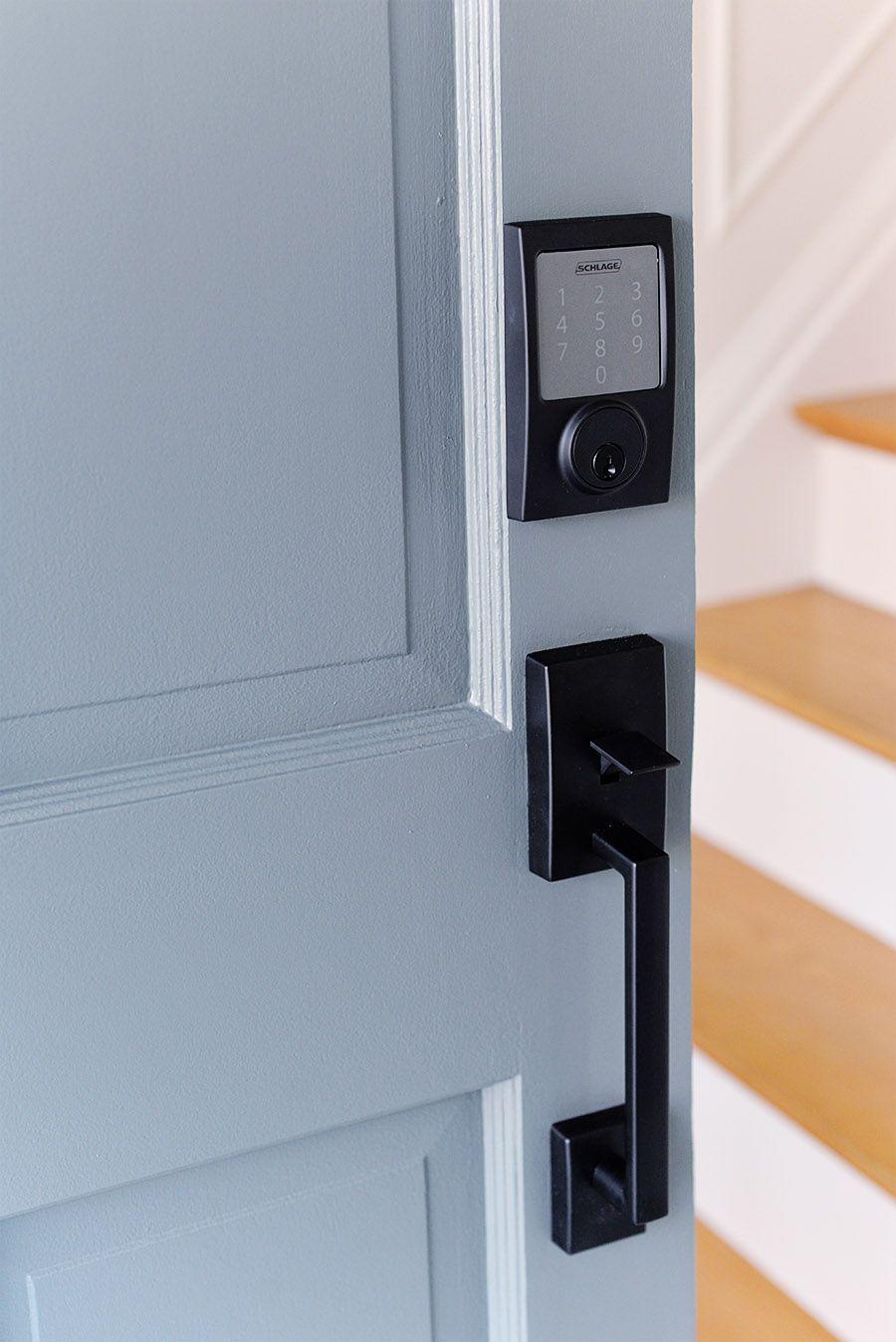 Rambling Renovators A Smart Door Lock And Front Door Refreshhit Sense Smart Lock Smart Door Lock Remote Logi In 2020 Smart Door Locks Front Door Hardware Door Locks