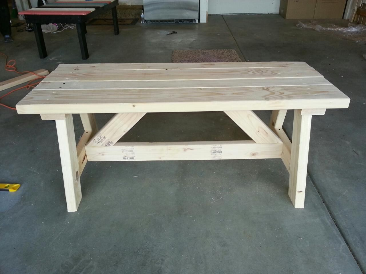 how to build a 2x4 workbench