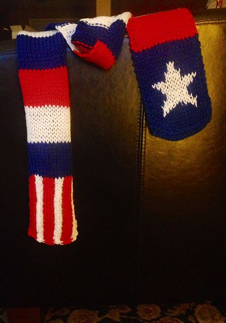 Knitting patterns galore captain america scarf crochet knitting patterns galore captain america scarf dt1010fo