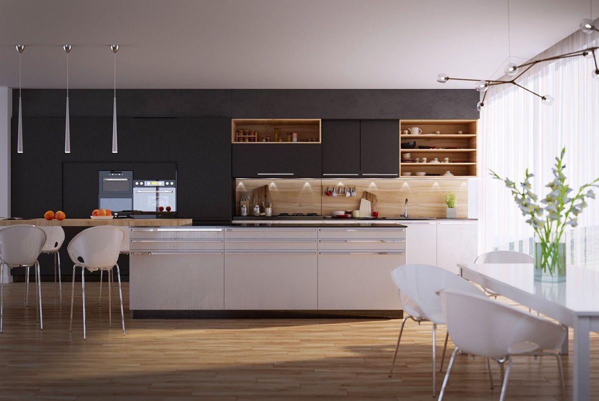 50 Modern Kitchen Designs That Use Unconventional Geometry Kitchen Design Small Modern Kitchen Cabinet Design Modern Kitchen Design