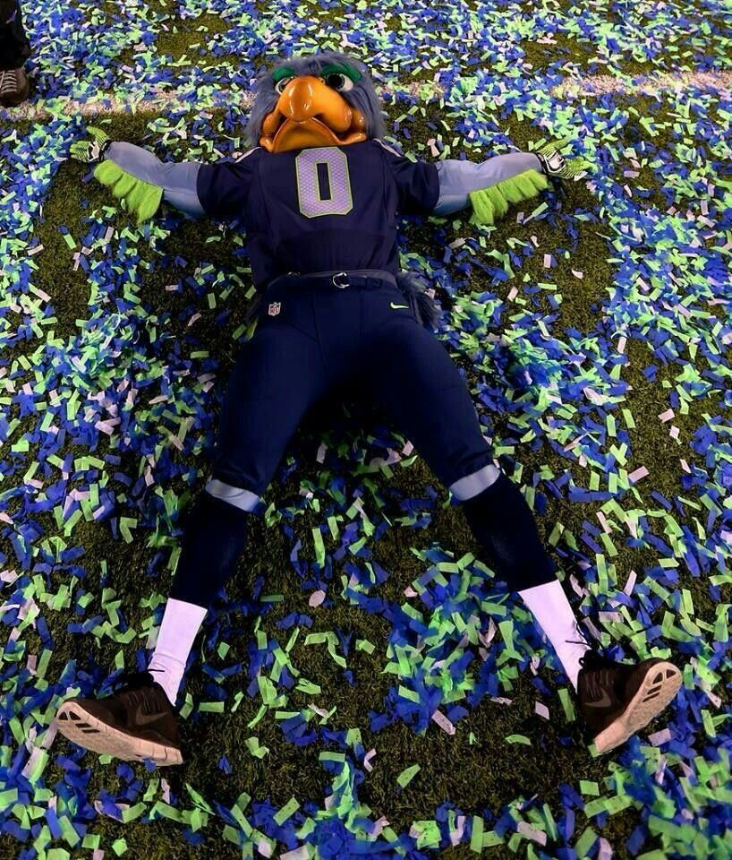 Blitz's Superbowl confetti angel