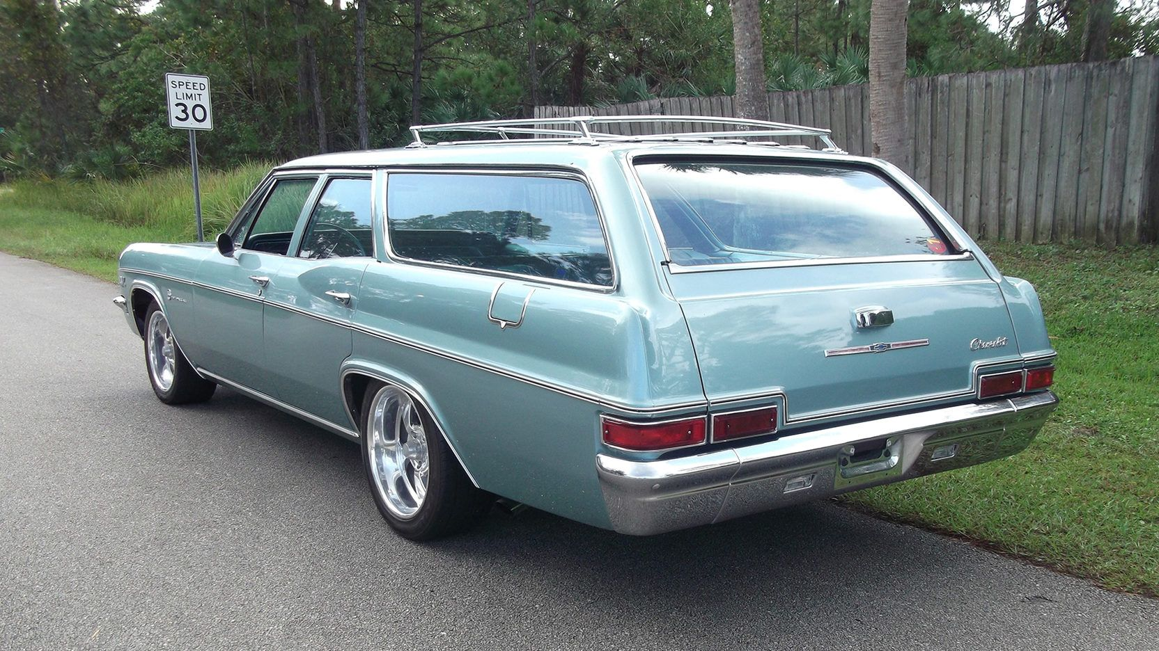 1966 Chevrolet Impala Wagon 3 Print Image Station Wagon Cars