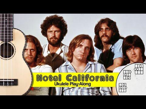 8 Hotel California Ukulele Play Along Youtube Ukulele Hotel California Ukulele Music