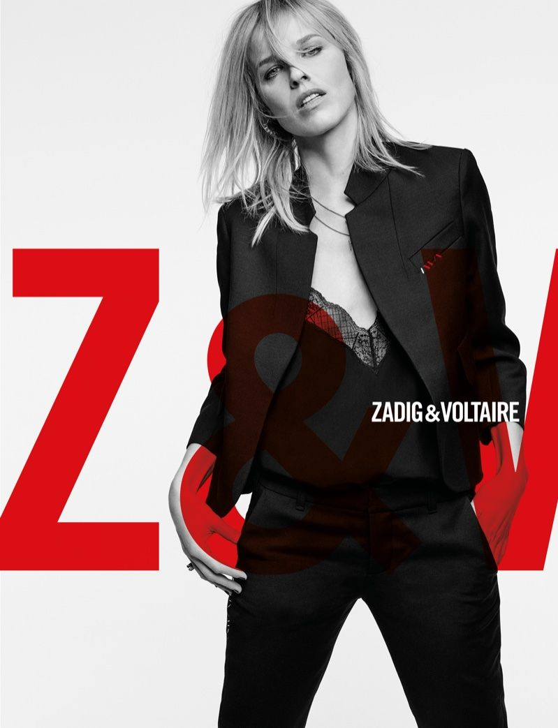 3966af441747 Model Eva Herzigova appears in Zadig & Voltaire fall-winter 2018 campaign