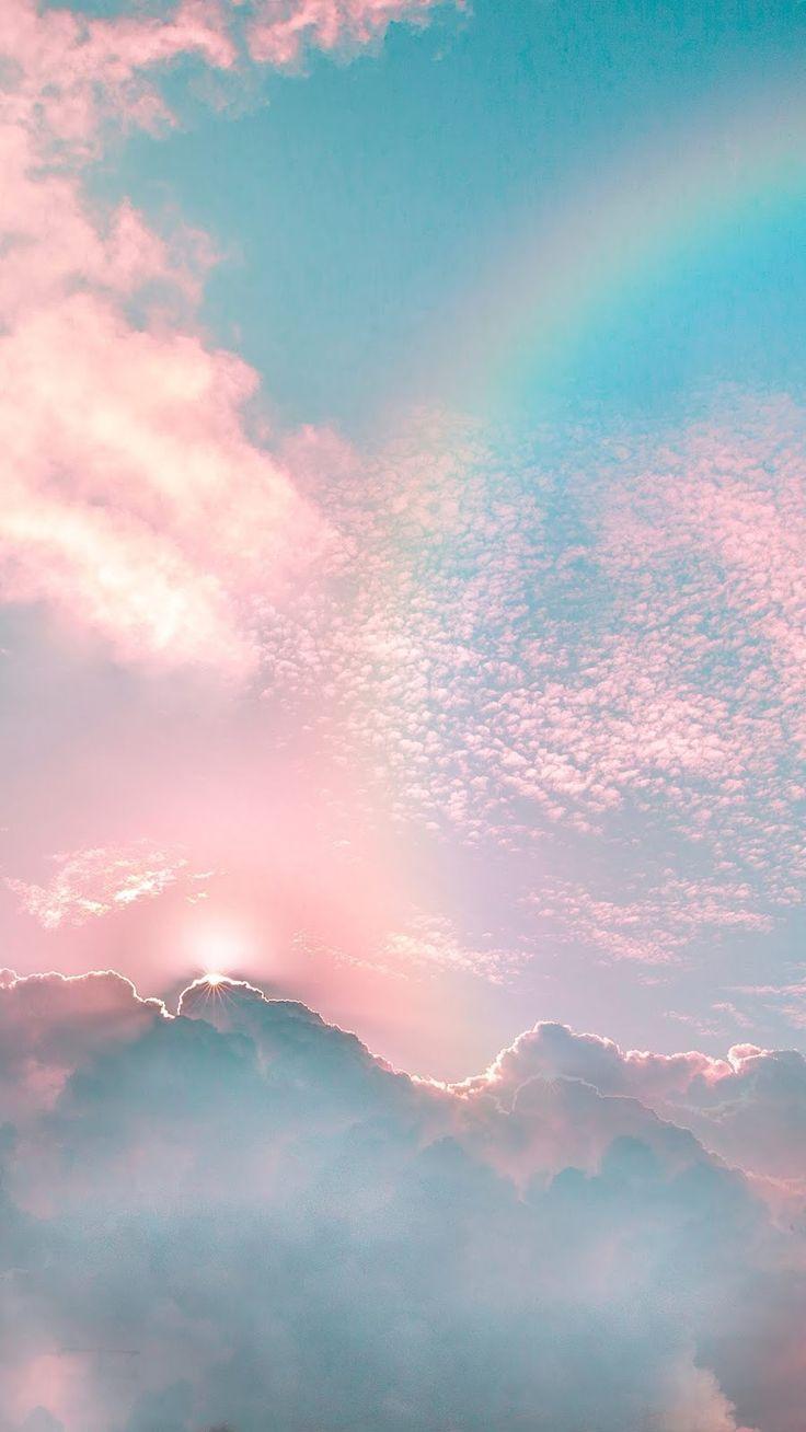 Rainbow in the sky - #rainbow #sky #wallpaper
