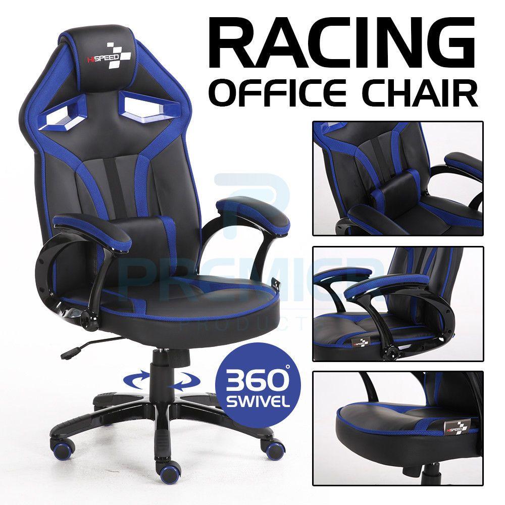 Racing gaming office chair executive lumbar support swivel pu