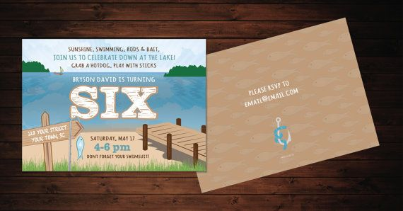 Lake Themed Wedding Invitations: Summer Lake Party Invitations (printed Or Printable) Www