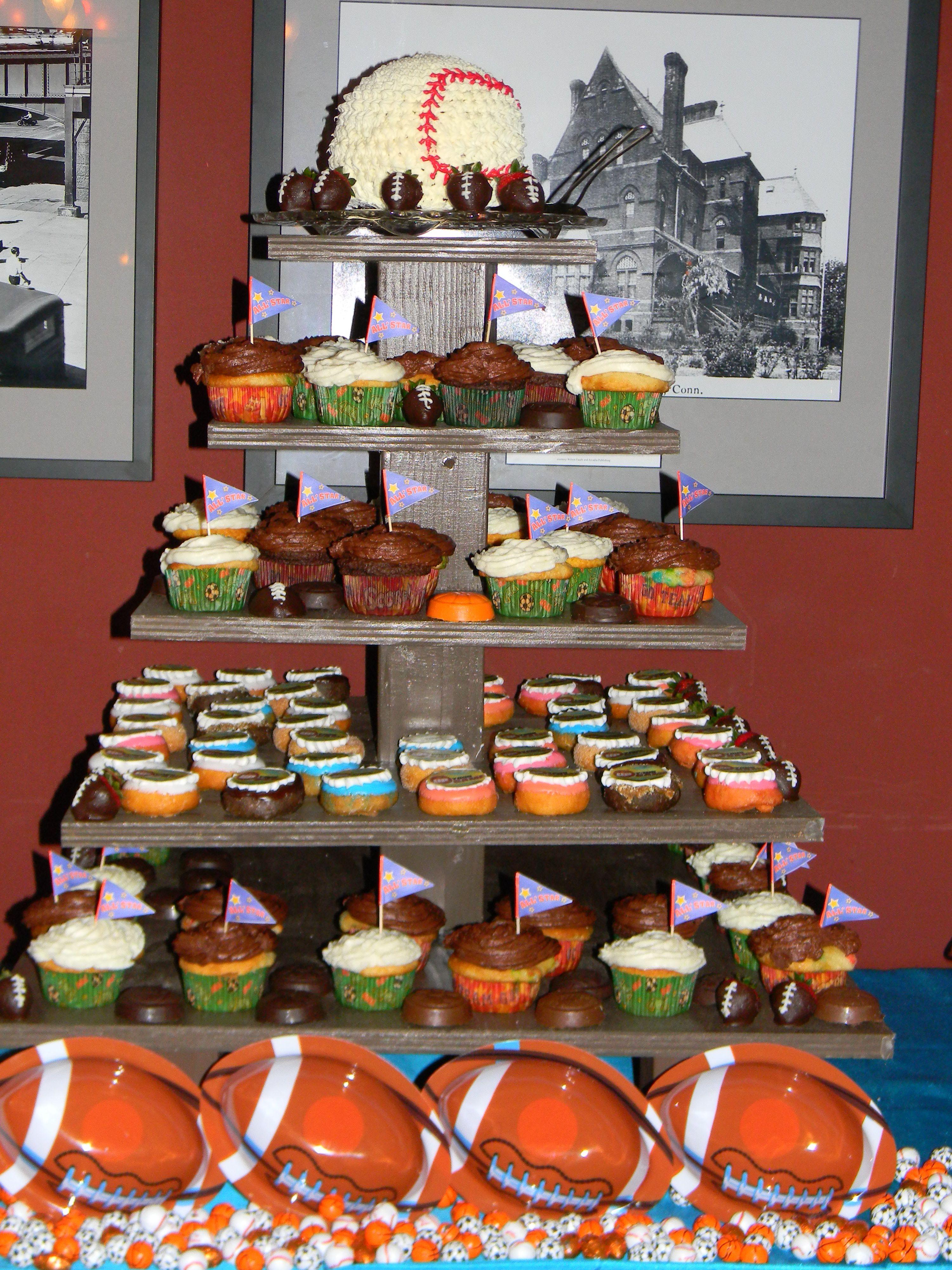 Sports Themed Dessert Tower