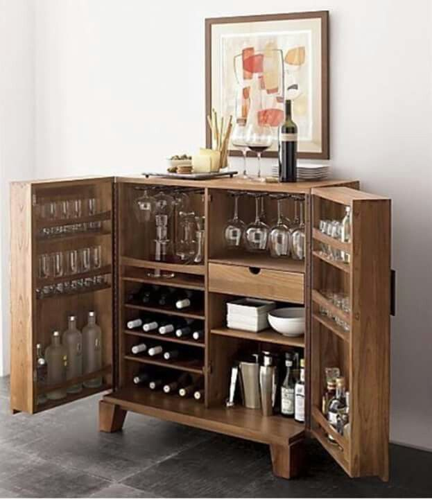 Charmant For A Smaller Standalone Bar, The Marin Natural Bar Cabinet From Crate And  Barrel Gives You Lots Of Storage Space In A Compact Design.