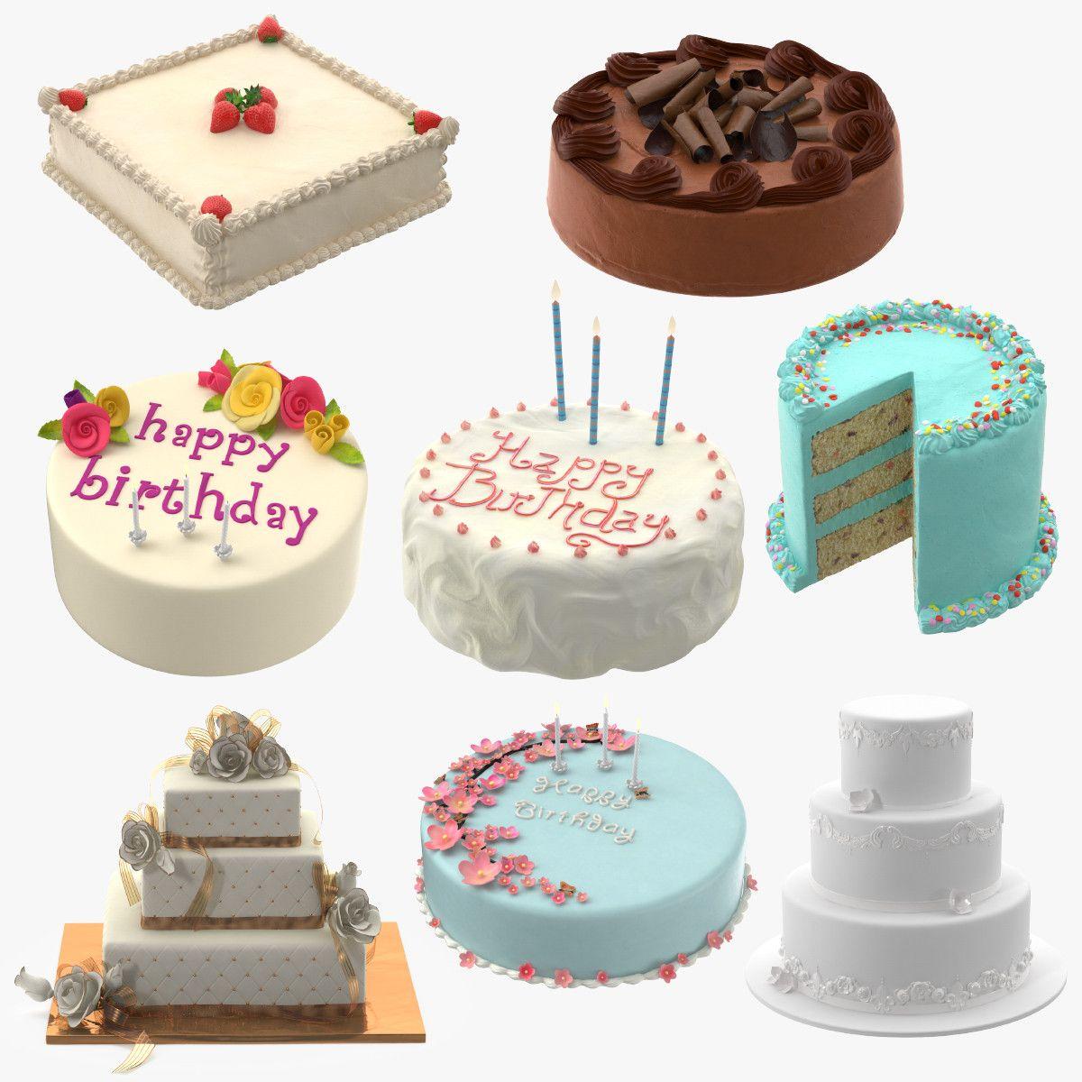 Cakes 03 3d Model 3d Model 3d Modeling Pinterest Models And Cake