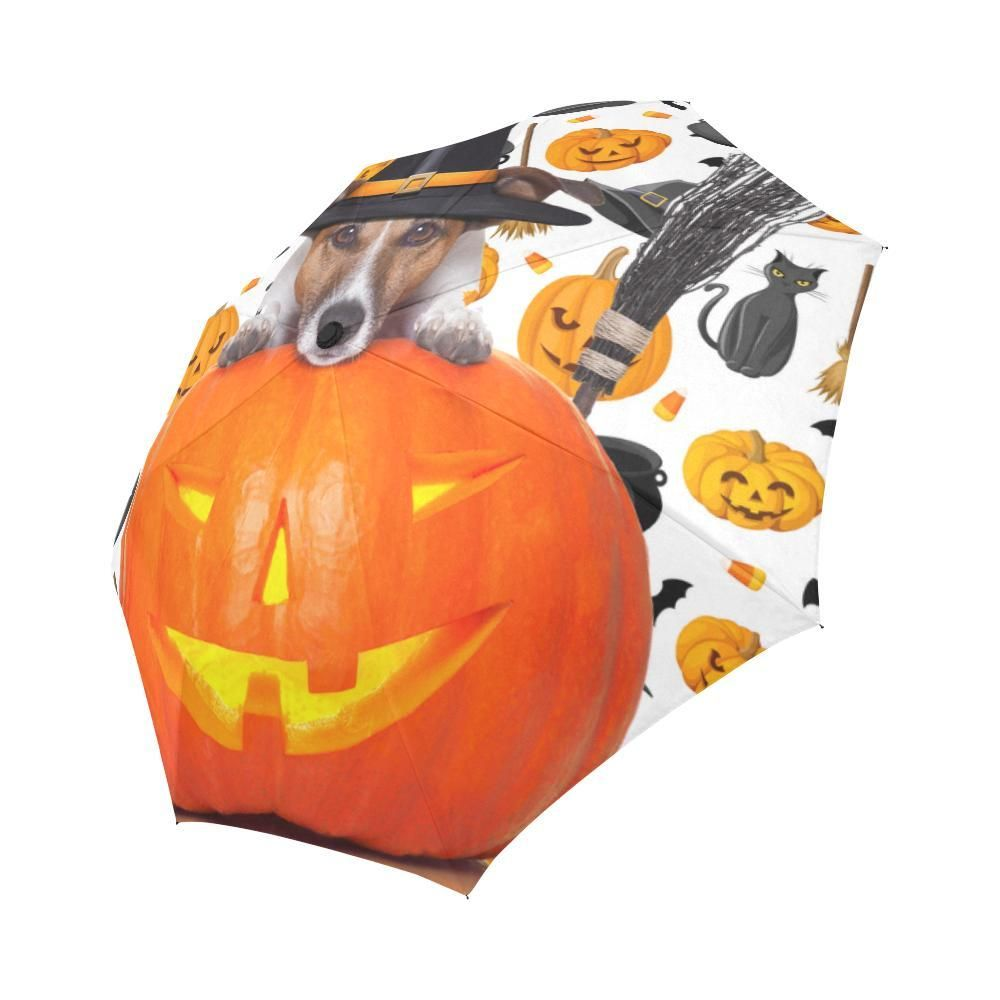 6e6479327bb4  TeeAmazing -  e-joyer Jack Russell Halloween Auto-Foldable Umbrella -  AdoreWe