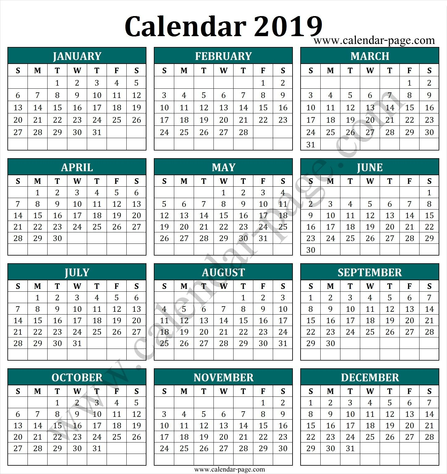South Africa 2019 Calendar With Public Holidays Blank Calendar