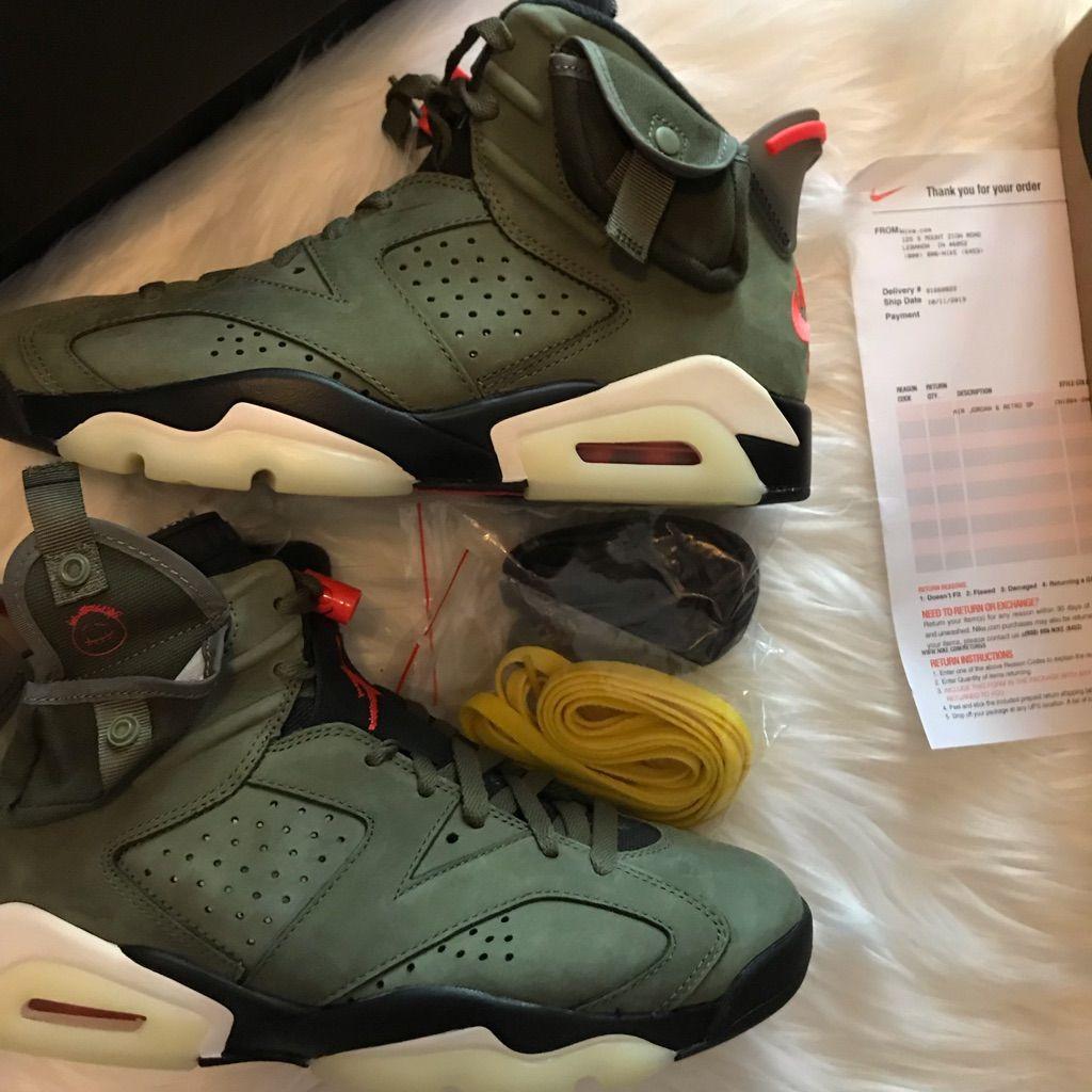 Jordan Shoes Travis Scott Air Jordan Vi Cactus Jack