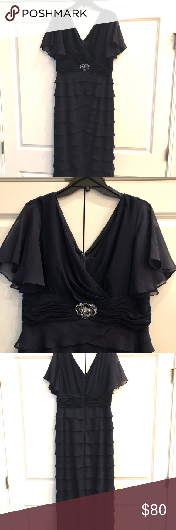 fa06cc64cc9 Jessica Howard Mother of Bride Dress This dress is perfect for the mother  of the bride or groom. Or wear it to your next special occasion! Navy blue.