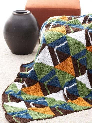Graphic Lapghan   Yarn   Free Knitting Patterns   Crochet ...