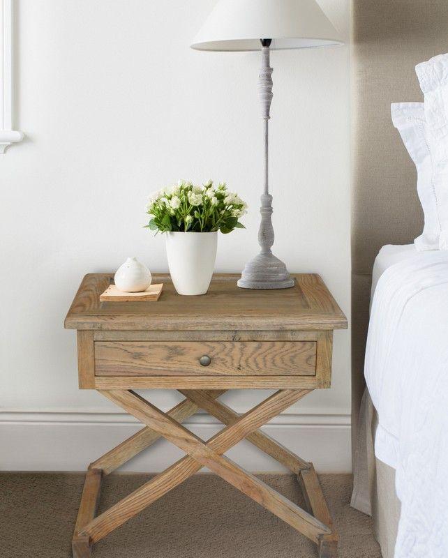 Oak Cross Leg Side Table Oak Bedside Tables Oak Side Table Cross Bedside Table