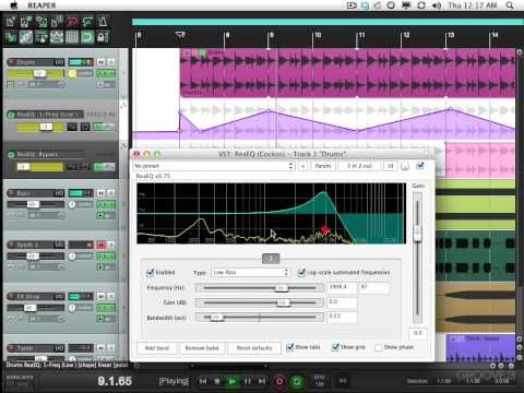 Automating Plug Ins Reaper Tips Tricks Music Software Reaper Cubase
