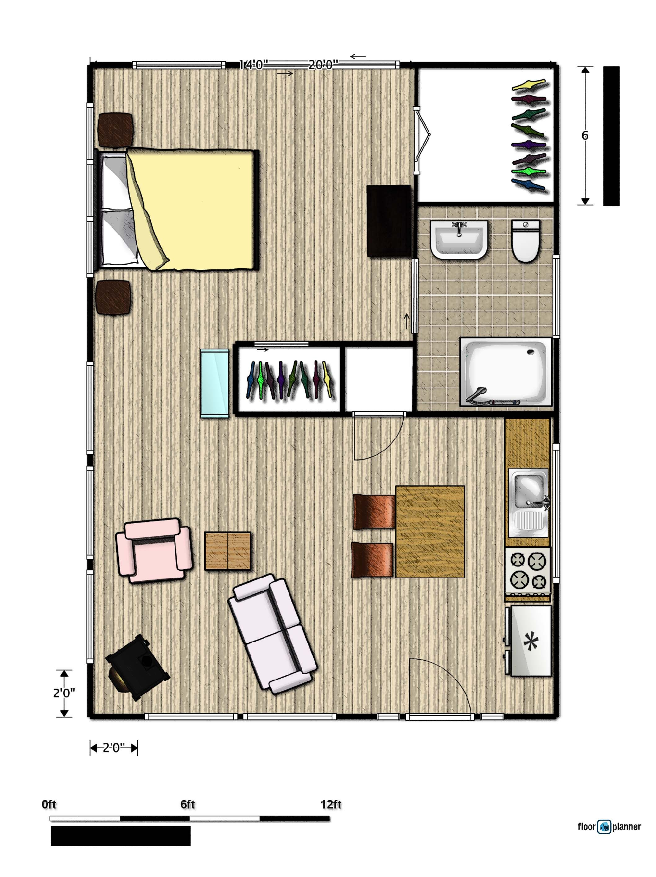 500 Square Foot Ranch Floor Plan Simple Basic Google Search Square House Floor Plans Small House Floor Plans Guest House Plans