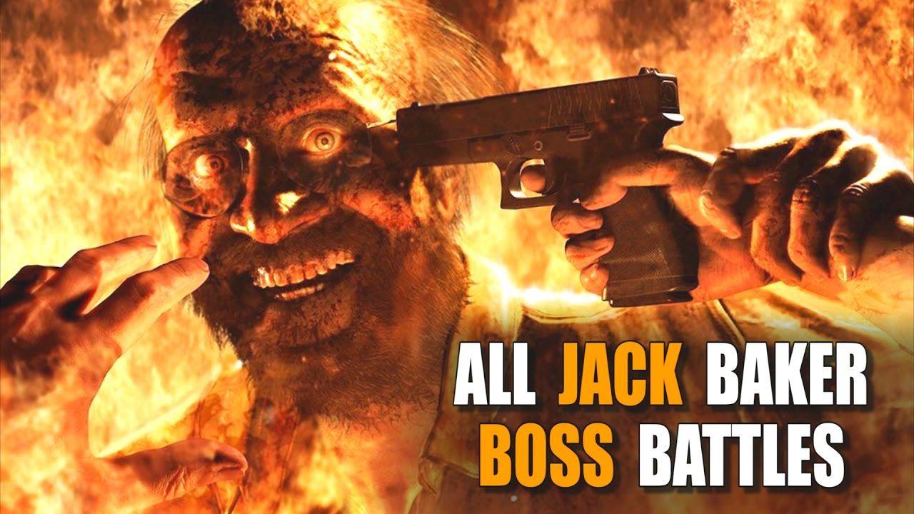 Resident Evil 7 Ethan Vs Jack All Jack Baker Boss Battles