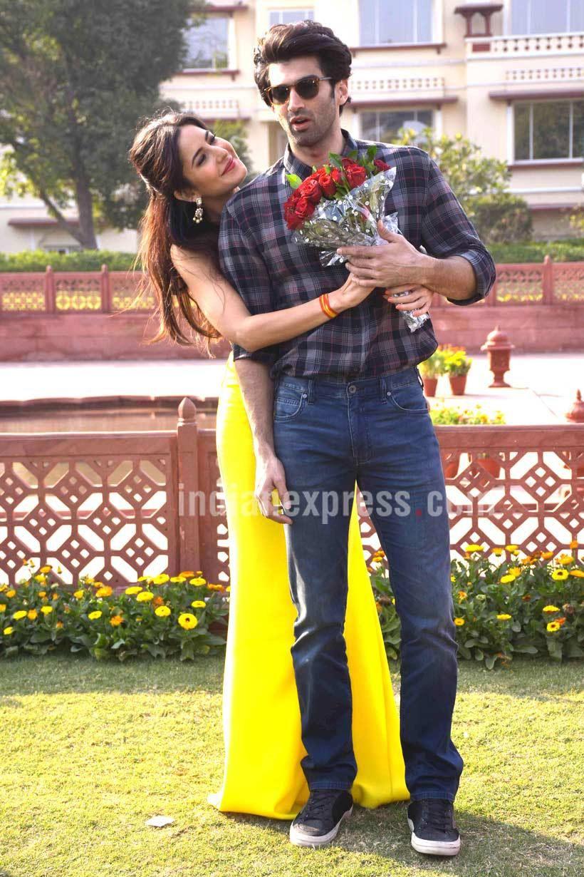 Ranbir kapoor on jagga jasoos i katrina kaif anurag basu have worked very hard on it the indian express - Aditya Roy Kapur And Katrina Kaif During Fitoor Promotions On International Rose Day