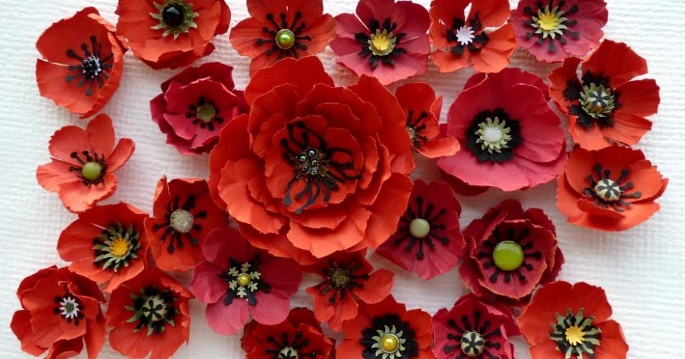 Papierowe Kwiaty Scrapbooking Cardmaking Hand Made Flower Papieroplastyka Paper Flowers Paper Flowers Diy Poppy Tutorial