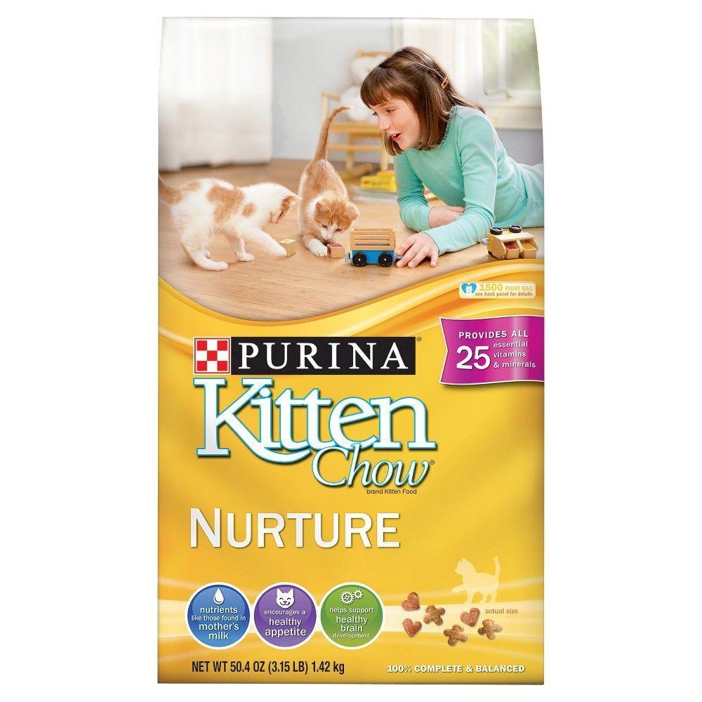3.15 Pound Bag Nurture Purina Kitten Chow Dry Kitten Food Pack of 1