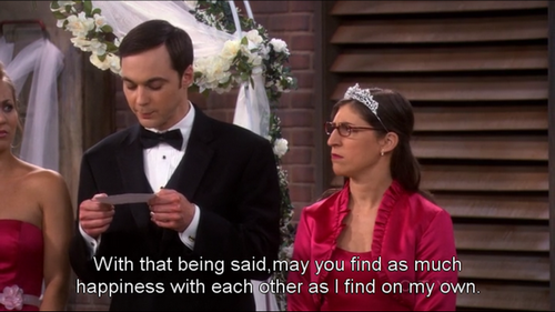I think this is the sweetest thing Sheldon is able to say to someone.